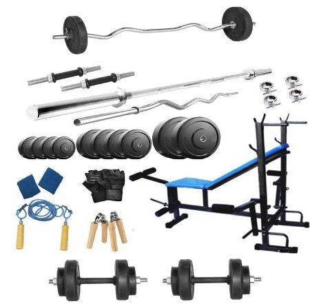 50-Kg-Body-Maxx-Home-Gym-Pack-With-8-in-1-Bench-4-Rods-Bands-Gripper-Rope-Gloves