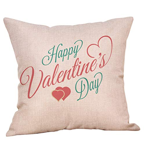 Littay Überwurfkissenbezüge, Happy Valentine's Day Throw Kissenbezug Sweet Love quadratisch 18x18inch Multicolor1