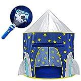 YOOBE Rocket Ship Play Tent - avec projecteur Bonus Space Torch Indoor / Outdoor