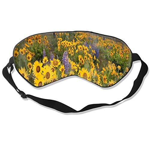 Miedhki Unisex Sleeping Eye Mask Sunflower Tattoo Eye Mask Cover with Adjustable Strap Blindfold Eyeshade for Travel, Nap, Meditation Fashion10