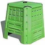 Art Plast BC380 Composter in plastica, robusto, verde