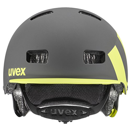 UVEX Erwachsene 5 Bike Pro Freeridehelm, Gray/Lime Mat, 58-61 - 3