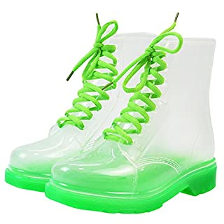 Damen Regenstiefel Kurzschaft Stiefel Gummistiefel Gummistiefeletten Boots, Outry Rain Boot Regenstiefelette Gummistiefelette Reitstiefelette Stiefel (EU38, Stiefel-Grün)