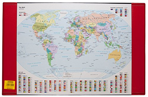 Idena 350105 - Schreibunterlage Weltkarte