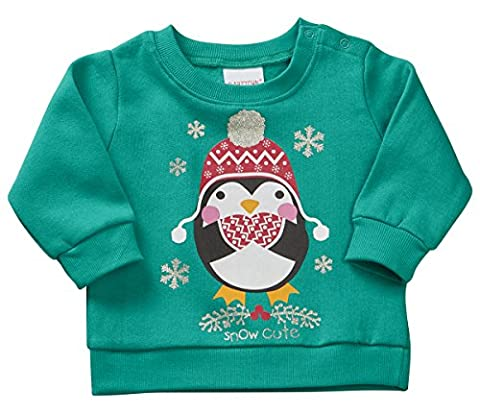 Kidz pour enfants de Noël fantaisie Pull Sweat-shirt - vert - 9 mois