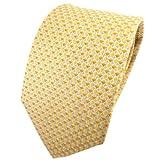 TigerTie cravate en soie jaune jaune doré argent gris à motifs