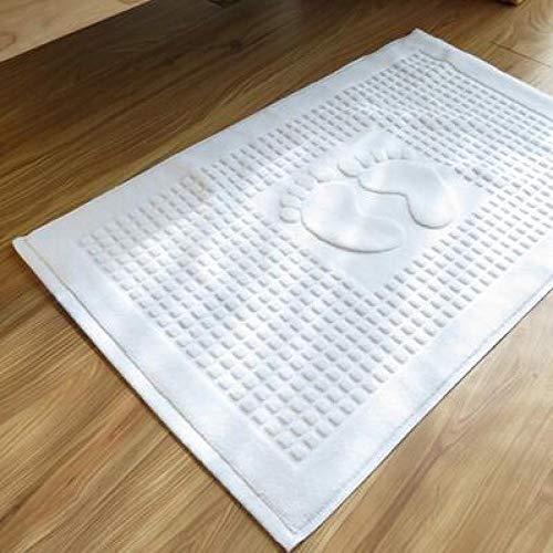 FeiXing158 Baumwolle Fußabdruck rutschfeste Bad Hotel Matten Bad Teppich Küche Fußmatte Bürostuhl Bodenmatte Fuß Pad Esstisch