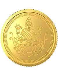 Joyalukkas 22k (916) 1 gm BIS Hallmarked Yellow Gold Precious Coin with Lord Lakshmi Design