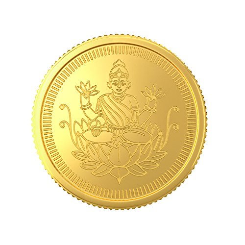Joyalukkas BIS Hallmarked 1 grams 22k (916) Yellow Gold Precious Coin
