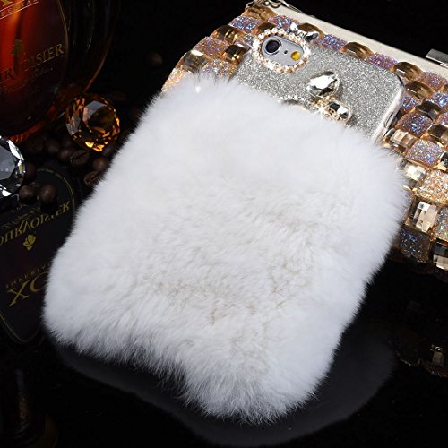 iPhone Case Cover Pour iPhone 6 & 6s véritable lapin cheveux diamant incrusté Flash Poudre Soft TPU étui de protection ( SKU : Ip6g3118m ) Ip6g3118w
