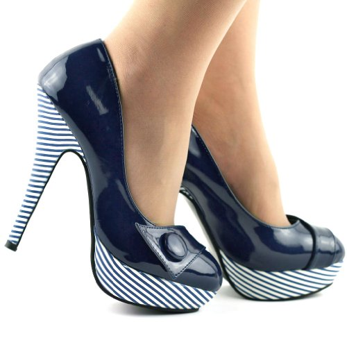 Show Story, Scarpe con plateau donna Blu (blu scuro)