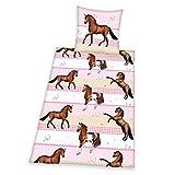 Herding 445736050 Bettwäsche Young Collection Pferde, Kopfkissenbezug: 80 x 80 cm und Bettbezug: 135 x 200 cm, 100 % Baumwolle, Renforce