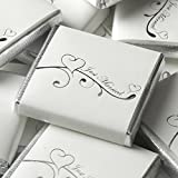 50 Just Married Chocolates - Silver Hearts - Wedding Favours by CSC Imports