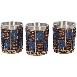 Medieval - Juego de vasos de chupito (4 unidades)