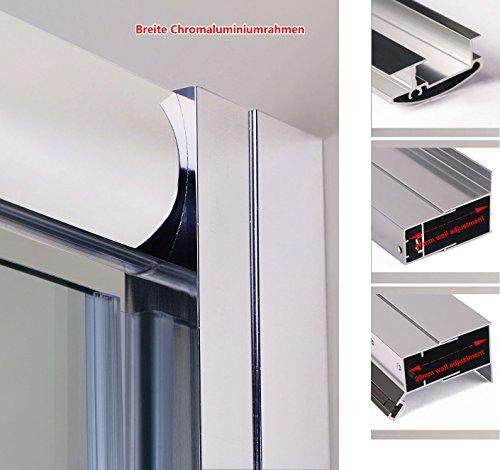 Neueröffnung 90cm Nische Schwingtür Drehpunkt Duschabtrennung Echtglas links/rechts - 6
