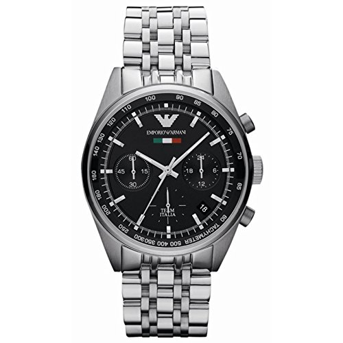Men's Emporio Armani AR5983 Quartz Black Dial Stainless Steel Watch