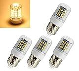 4x E27 SMD 48 LEDs Strahler Lampe Birne Spot Licht Warmweiß 230V AC 3W 2800K