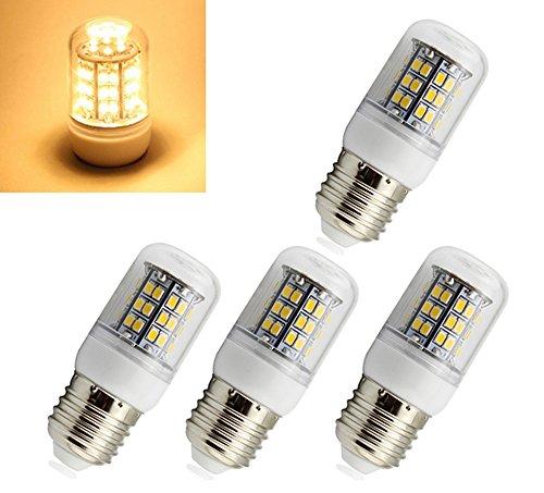 Preisvergleich Produktbild 4x E27 SMD 48 LEDs Strahler Lampe Birne Spot Licht Warmweiß 230V AC 3W 2800K