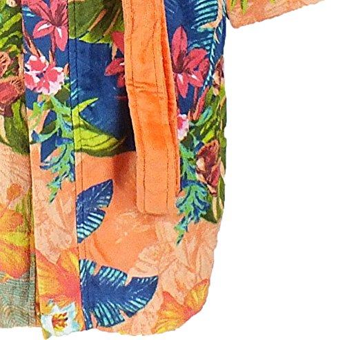 Desigual accappatoio in spugna SAUVAGE arancione con cappuccio Tg. L Multicolore