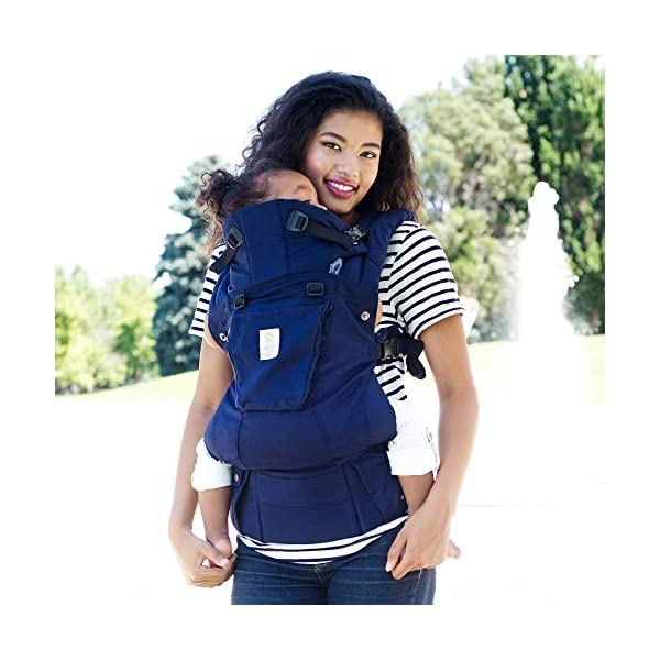 SIX-Position, 360° Ergonomic Baby & Child Carrier by LILLEbaby - The Complete Organic (Blue Moonlight) Lillebaby ERGONOMIC: Perfect for newborns. No insert needed. COMFORT: Voted most comfortable baby carrier. SIX (6) POSITIONS: Front inward (fetal, infant, or toddler settings), front outward, hip or back carry. 7 - 45 lbs. 7