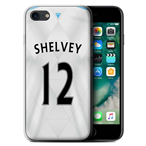 Offiziell Newcastle United FC Hülle / Gel TPU Case für Apple iPhone 7 / Mitrovic Muster / NUFC Trikot Away 15/16 Kollektion Shelvey
