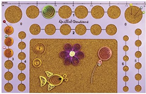 Quilled Creations Plastic Circle Template Board-5-inch x 8-inch