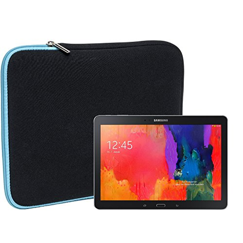 Slabo Tablet Tasche Schutzhülle für Samsung Galaxy TabPRO 10.1 SM-T520 Hülle Etui Case Phablet aus Neopren - TÜRKIS/SCHWARZ