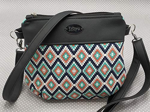 Cross Body Tasche, Schultertasche, Cross Body Bag Geometry