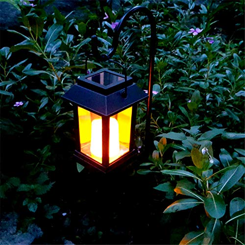 CDKZK Solar Rasen Lichter Outdoor Indoor Dekoration Solar Lade Kerze Leuchtet Retro Laterne Für Garten Patio Yard ()