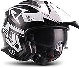 """Soxon  SR-400 Storm """"Titan"""" (Silber)  Jet-Helm  Chopper Roller Scooter-Helm Bobber Mofa Motorrad-Helm  ECE zertifiziert  inkl. Sonnenvisier  Click-n-Secure Verschluss  Tragetasche  L (59-60cm)"""