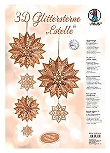 Ursus 33760000Glitter Estrella 3D Estelle, Material para 3Estrellas, Cobre, Cobre