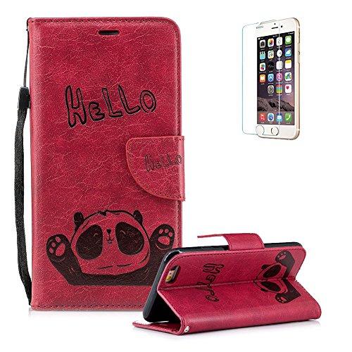 Funyye-Morbida-Portafoglio-Pelle-per-iPhone-6Cinturino-da-Polso-Carino-Panda-Design-Supporto-Stand-Porta-Carte-Chiusura-Magnetica-Flip-Protettivo-Sottile-Custodia-per-iPhone-6SUltra-Sottile-Internamen
