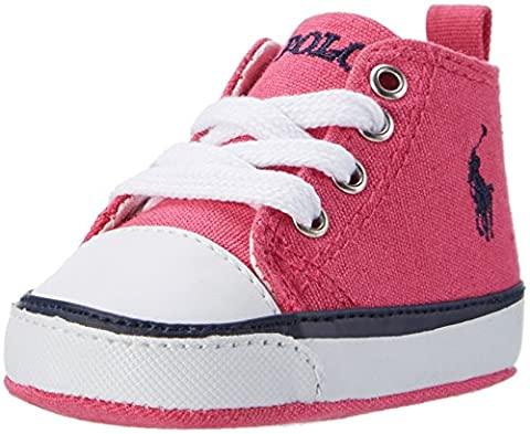 Ralph Lauren Baby Girls' Harbour Hi Layette Standing Baby Shoes pink Size: 2 Child UK