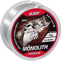Jaxon Monolith Premium - Sedal de Pesca (150 m, 0,10 mm - 0,35 mm, Bobina única, monofilamento Top), Transparente, 0,22mm / 11kg