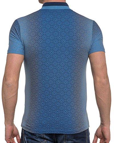 BLZ jeans - Barocker Druck königsblau Polo Blau
