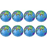 16 Zoll Inflatable Globe Aufblasbare Weltkugel Wasserball Kugel für Den Pädagogischen Spielenden Strand, Bunt (8 Packung)