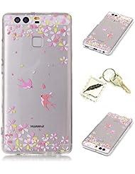 Etui Coque PU Slim Bumper pour Huawei P9 Souple Housse de Protection Flexible Soft Case Cas Couverture Anti Choc Mince Légère Silicone Cover Bouchon -photo Frame Keychain #AH (10)