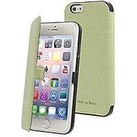 Muvit Made In Paris Etui slim folio pour iPhone 6 Plus Vert Citron
