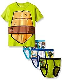 Nickelodeon Boys' Ninja Turtles 3pk Underwear and T-Shirt Set