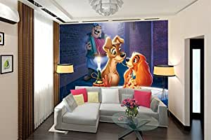 La dame et le clochard fresque murale , Kids peintures murales
