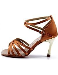 Zapatos De Baile Latino Femenino Inferior De Alta Suave Satén Zapatos De  Baile b8486a996cf0