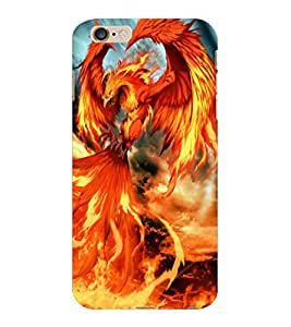 ColourCraft Flaming Dragon Design Back Case Cover for APPLE IPHONE 6 PLUS