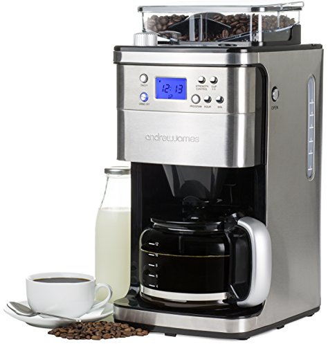 Andrew James Chrome Filter Coffee Maker
