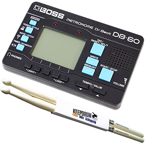 Boss Db de 60 Dr Beat Metrónomo + baquetas Keepdrum 1 par