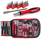 Hi-Spec Precision Electronics Set with 24-In-1 Ratcheting Bit Driver, Precision Screwdrivers and H