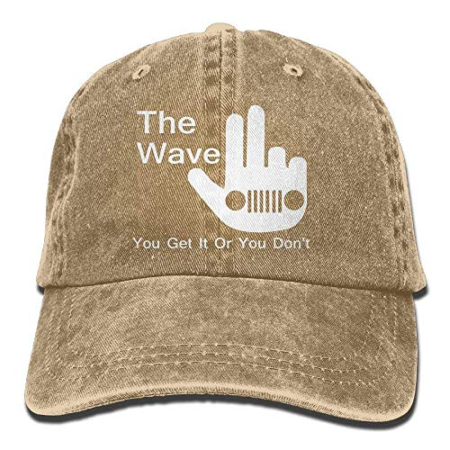Hoswee Unisex Kappe/Baseballkappe, The Jeep Wave Baseball Hat Men and Women Summer Sun Hat Travel Sunscreen Cap Fishing Outdoors