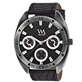 Watch Me Black Brown Leather Watch For M...