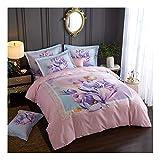 CSYPYLE Bettwäsche Set Heimtextilien Schöne Große Blumenmuster Weiche Bequeme Bettbezug Bettlaken Bettwäsche Set, 1,5 Mt 1,8 Mt