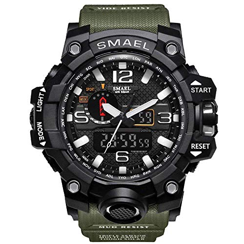 fomtty orologio da polso orologi analogico digitale orologio da polso sportivo impermeabile uomo led digitale orologio con cronometro per uomini