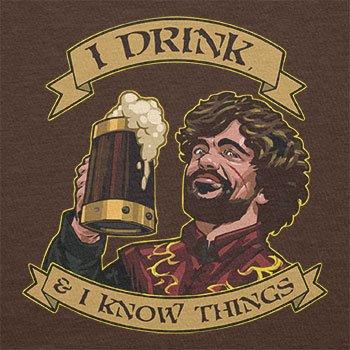 Texlab–I Drink, and I Know Things–sacchetto di stoffa Marrone
